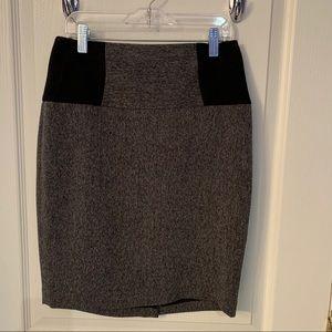 The Limited black tweed skirt
